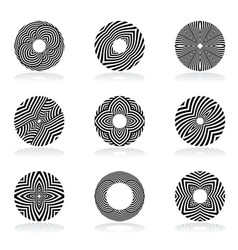 circle design elements vector image vector image