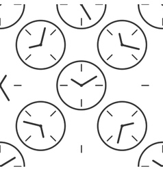 Clock icon pattern vector image