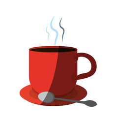 Coffee in mug with spoon icon image vector