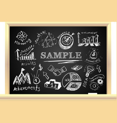 Creative blackboard idea vector