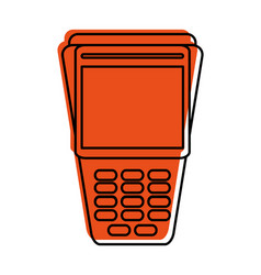 Dataphone or pos terminal icon image vector