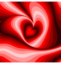 Design heart whirl rotation background vector image