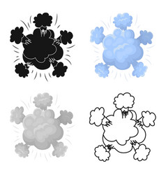 explosion icon in cartoon style isolated on white vector image vector image