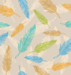 feather pattern pastel vector image vector image