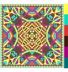 geometric square pattern for cross stitch vector image