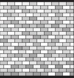 Gray brick wall pattern seamless background vector
