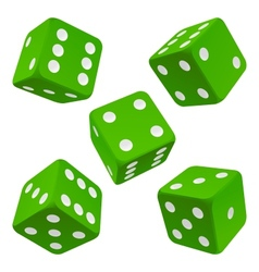 green dice set icon vector image