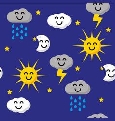 Happy sky pattern vector