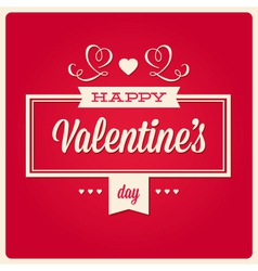 Happy valentines day card ornaments vector image vector image