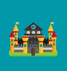 magical fabulous cartoon castle flat vector image