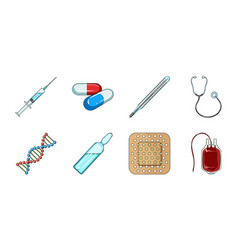 medicine and treatment icons in set collection for vector image