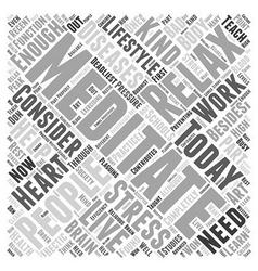 Meditation word cloud concept vector