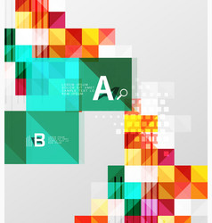 modern geometrical square banner minimalistic vector image