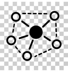 Molecule links icon vector