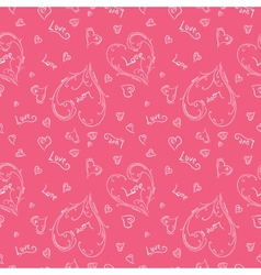 Pink romantic pattern vector image