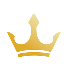royal golden crown ornate decorative image vector image