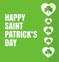 Saint Patricks day label vector image vector image