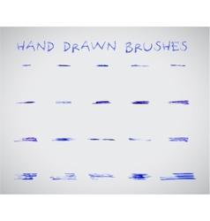 Set of felt pen marker hand drawndoodle sketched vector