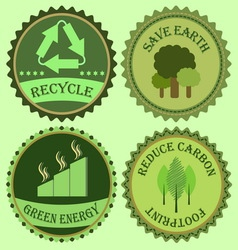 Set of go green collections vector image