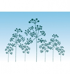 silhouette trees vector image vector image