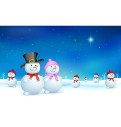 Snowman in Christmas vector image vector image