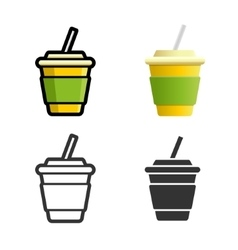 Soft drink colored icon set vector