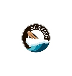surfing logo vector image vector image