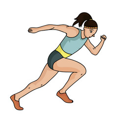 the girl is engaged in athleticsthe olympics in vector image vector image