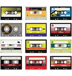 Vintage cassette tapes vol 2 vector image