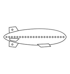 Dirigible balloon icon outline style vector image