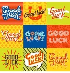 Good luck farewell card vector