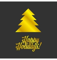 Happy holiday sign vector