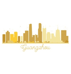 Guangzhou city skyline golden silhouette vector