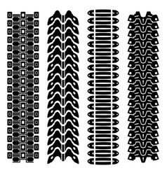 Tank tire tracks vector