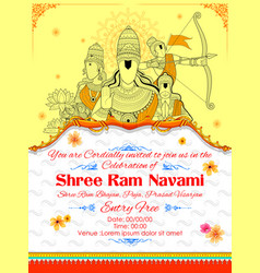 Lord ram sita laxmana hanuman and ravana in ram vector