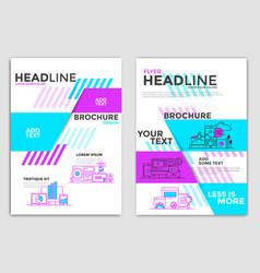 Flyer design-business theme vector