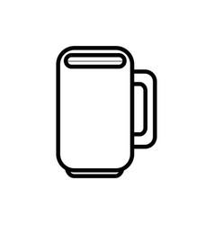 Mug porcelain cup vector