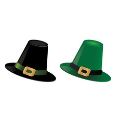 Leprechaun hats vector