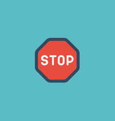 flat icon stop element of vector image
