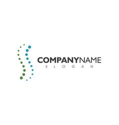 Spine diagnostics symbol logo template design vector