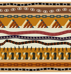 Seamless pattern with ethnic patterns vector image