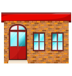 A building made of bricks vector