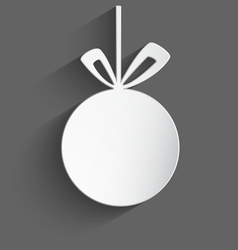 White 3d Christmas ball vector image