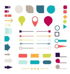 Set of elements markers arrows and dividers for vector