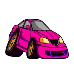 Car caricature vector
