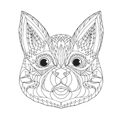 Zentangle stylized cat sketch for tattoo or t vector