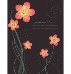 Floral poster vector