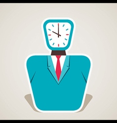 Clock face of businessmen vector