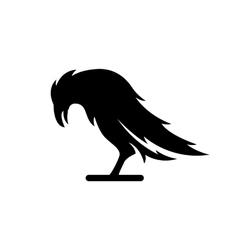 Black crow logo vector image
