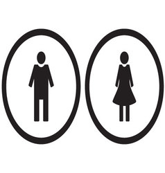 Icon set gender male and female vector